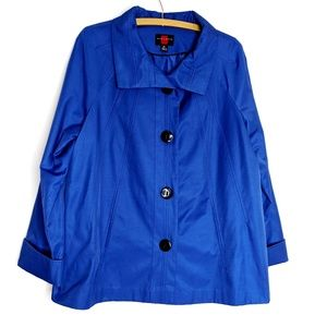 Gallery Royal Blue Chic Trench Cost Jacket